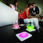 Sous verres avec LED