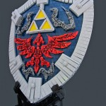 Réplique bouclier Zelda en Lego