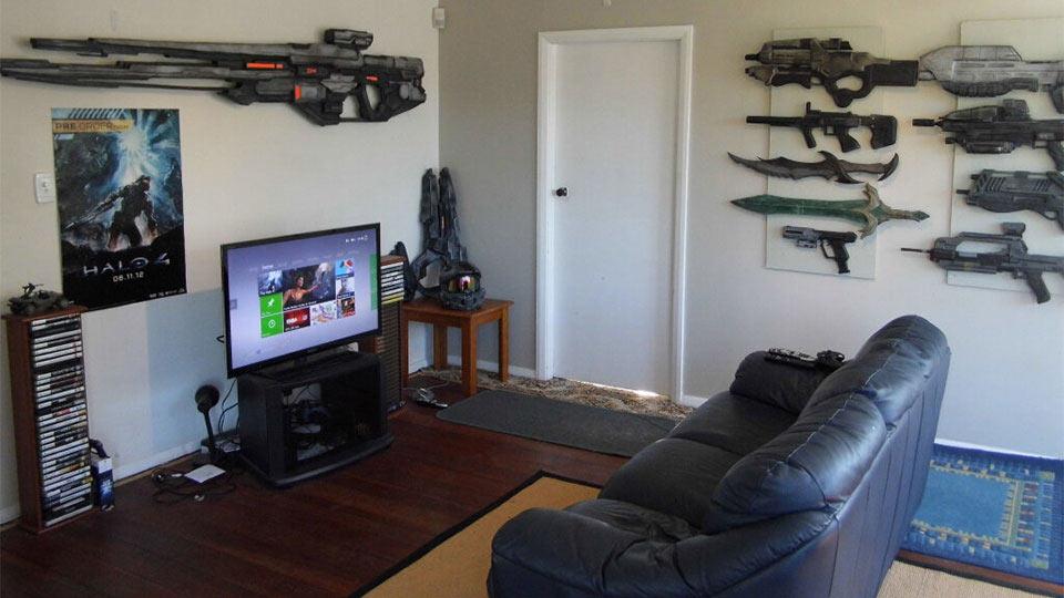Une chambre de geek armé jusqu'aux dents  Geek