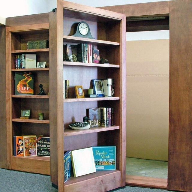 Biblioth que avec une porte cach e geek for Meuble porte secrete