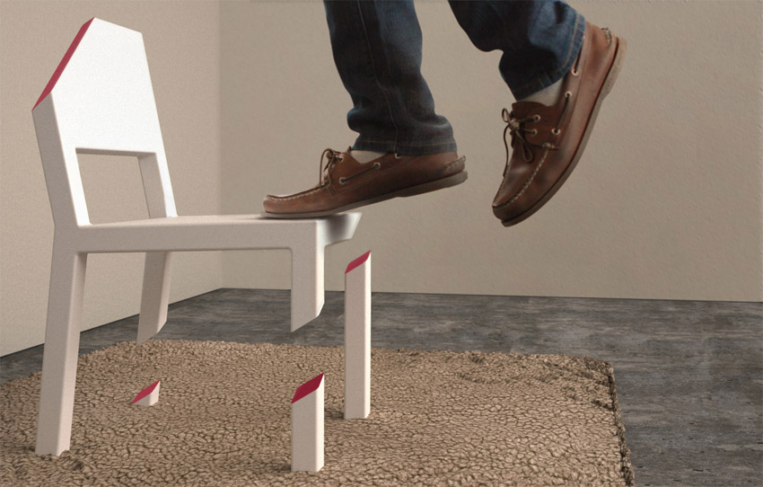 Chaise avec les pieds coup s geek for Chaise 3 pieds