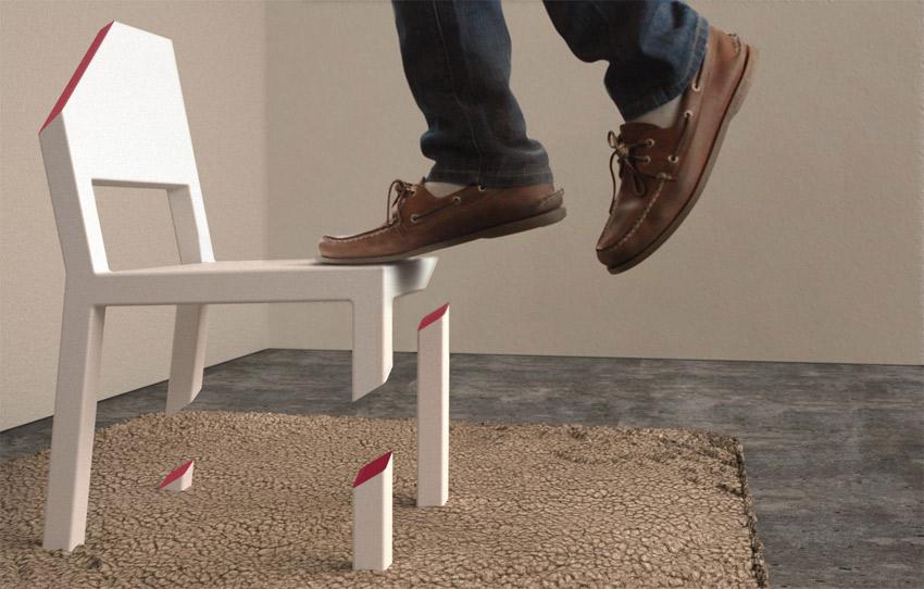 Chaise avec les pieds coup s geek for Chaise un pied