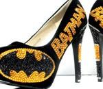 Escarpins Batman en cristal Swarovski