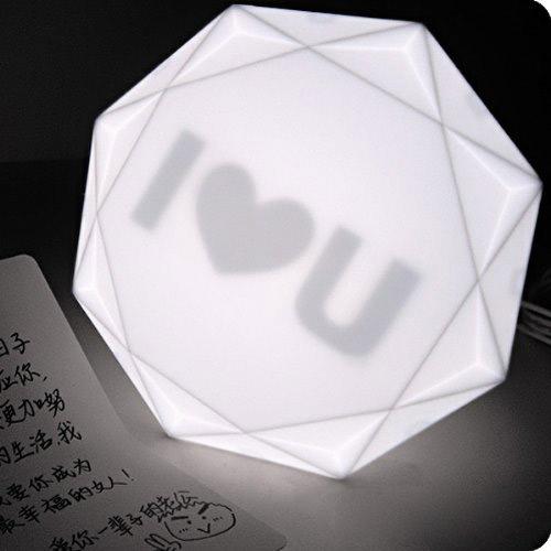 Lampe diamant Geek, Idee deco
