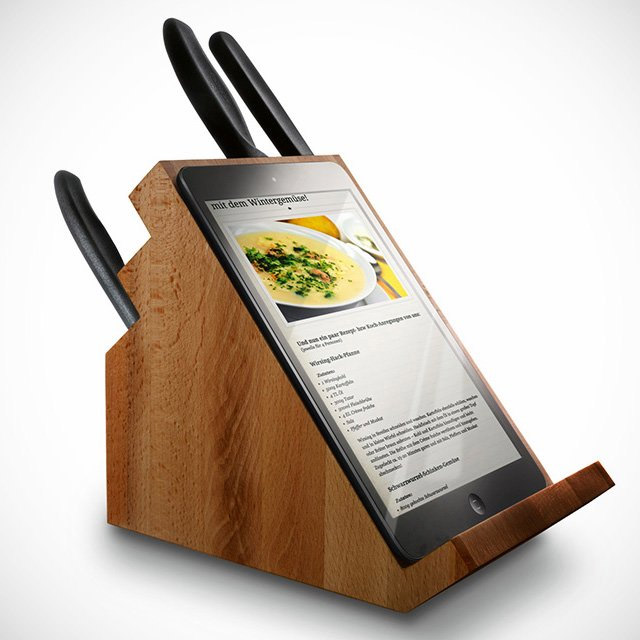 Bloc de couteaux porte tablette tactile geek for Tablette tactile cuisine