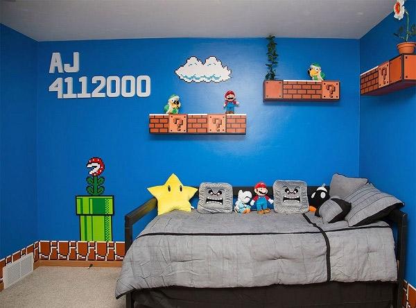 La chambre Mario  Geek