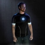 T-Shirt LED Iron-Man