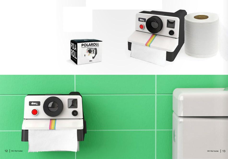Polaroid d rouleur de papier toilette geek - Distributeur papier toilette original ...