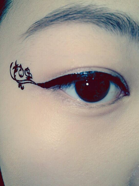 Tatouage d 39 oeil temporaire geek - Oeil d horus tatouage ...