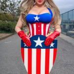 Cosplay Captain America sexy