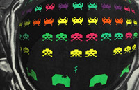 Plaid Space Invaders