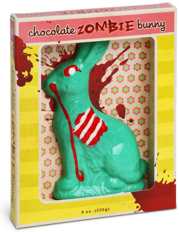 Lapin de pâques au chocolat zombie