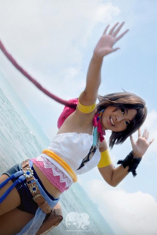 Cosplay de Yuna de Final Fantasy