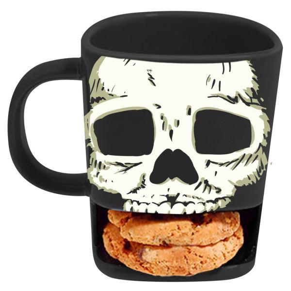 Mug tête de mort avec emplacement pour cookie