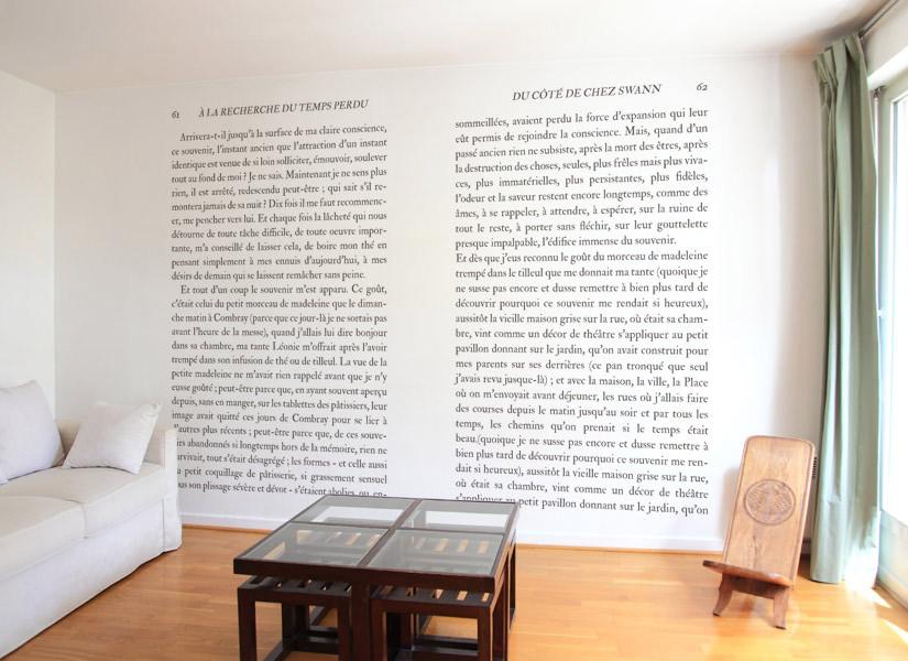 Papier peint Madeleine de Proust