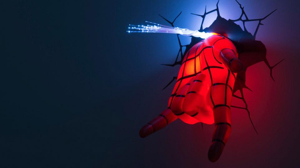 Veilleuse main de Spiderman
