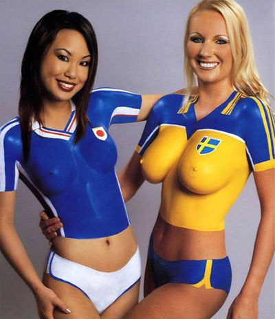 Body paint coupe du monde 2014