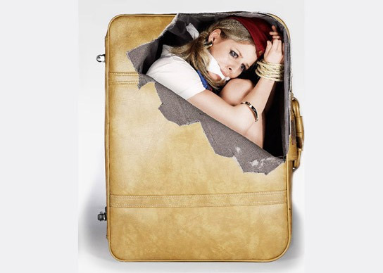 Sticker sachets de drogue pour valise