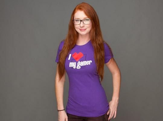 T-shirt I love my gamer