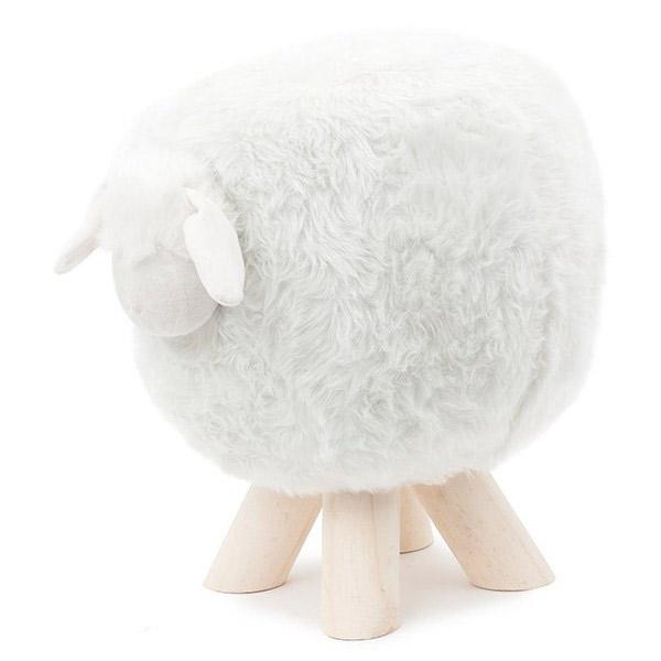 tabouret mouton geek. Black Bedroom Furniture Sets. Home Design Ideas
