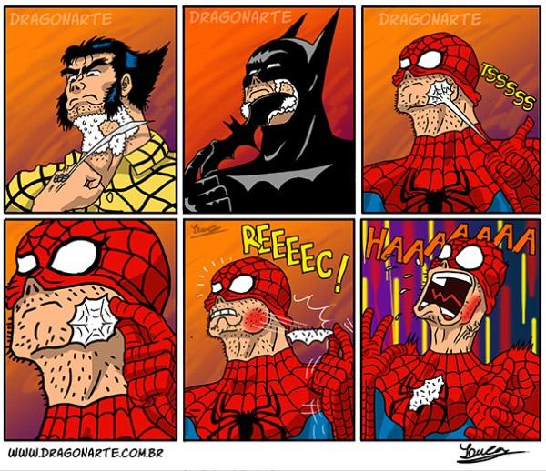 Comment font les super Héros pour se raser ?