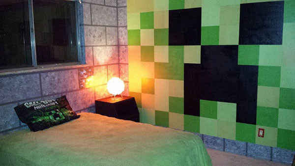 la chambre minecraft gaming geek. Black Bedroom Furniture Sets. Home Design Ideas