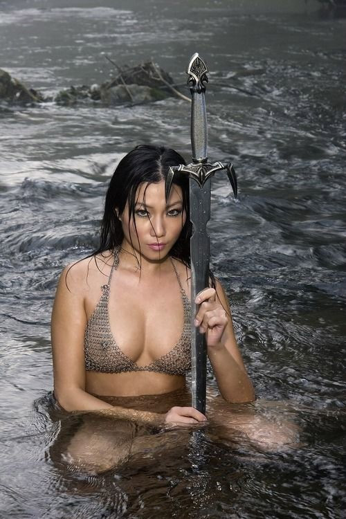 sexy topless woman warrior pics