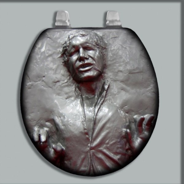 abattant de wc han solo dans la carbonite geek star wars. Black Bedroom Furniture Sets. Home Design Ideas