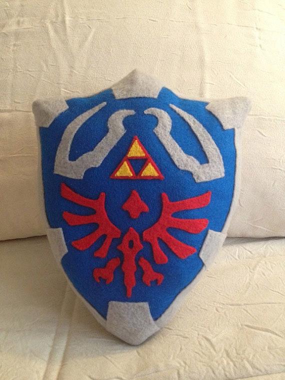 Oreiller bouclier de Zelda