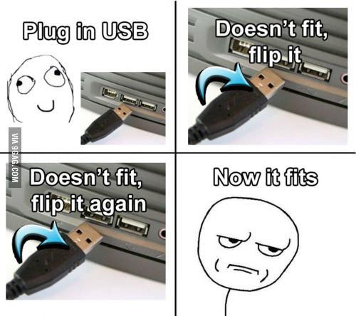Quand on essaie de brancher un accessoire USB