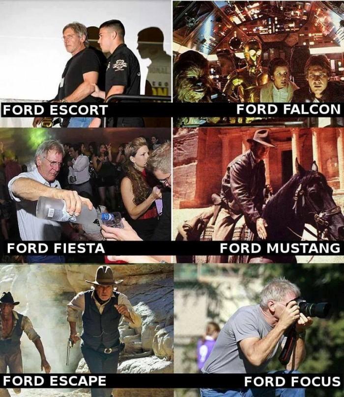 Harrison Ford est un comique