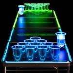 Jeu de beer pong phosphorescent