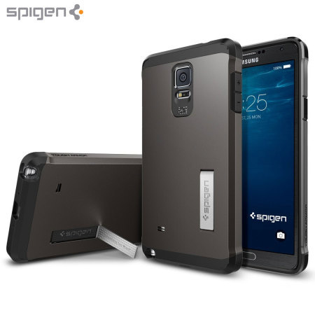 Coque Samsung Galaxy Note 4 Spigen Tough Armor - Gunmetal