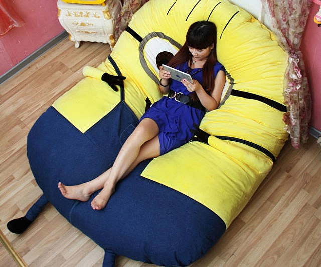 Pouf Minion Geek