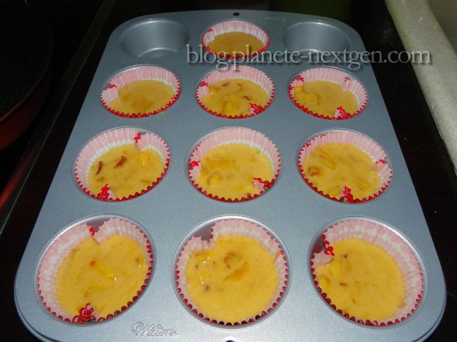 Cupcakes aux pommes caramélisées et glaçage au Kiri