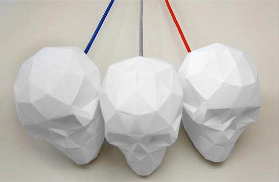 Lampe origami t te de mort geek idee deco - Tete de mort origami ...