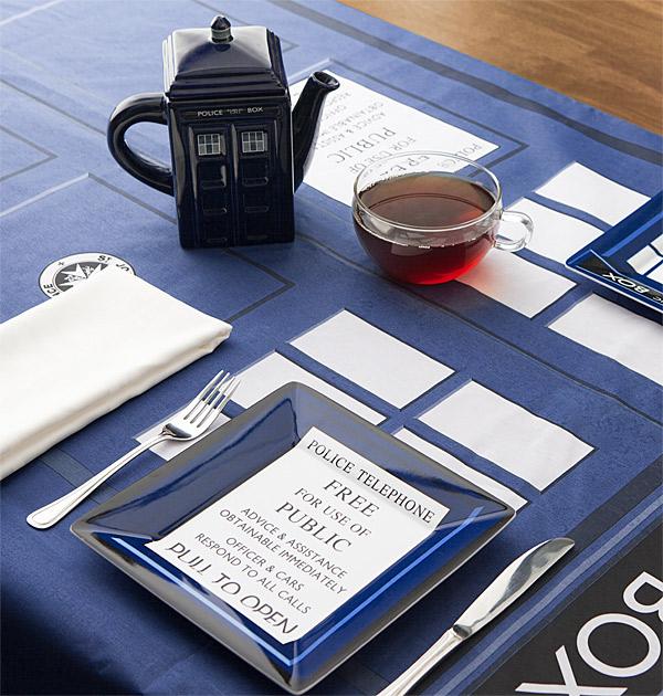 Nappe de table Tardis Doctor Who