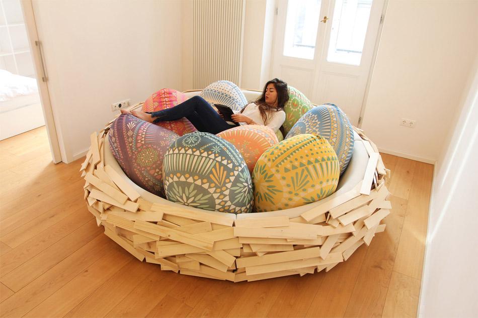 Sofa nid d'oiseau