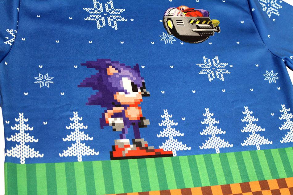 Pull de Noël Sonic détails