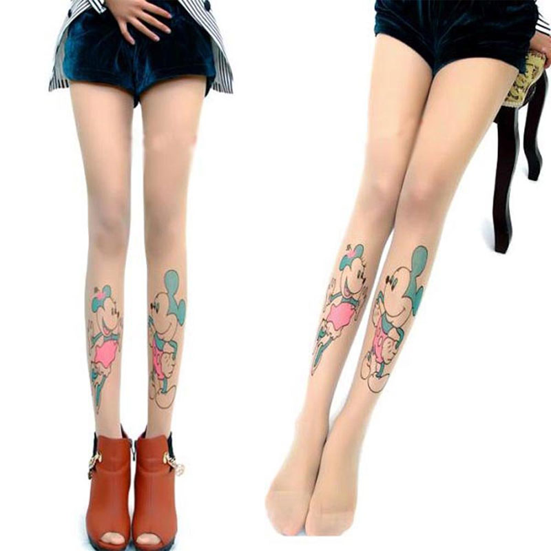 Fabuleux Acheter Collants Tatouage | Paire Collants Motif Tatouages  SL18