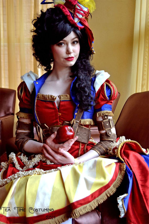 Cosplay Groot VS Blanche Neige Steampunk