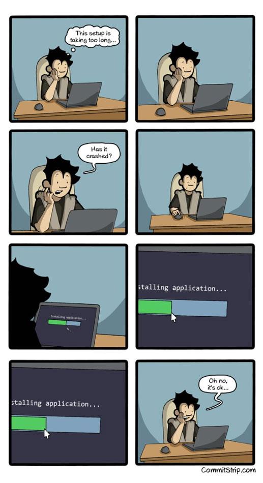 Pendant l'installation d'un logiciel