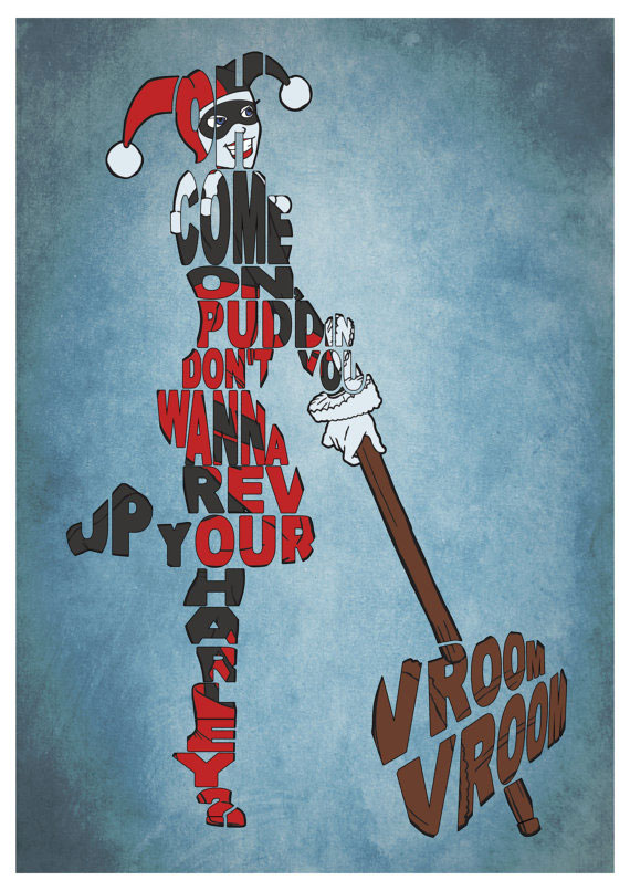 Poster typographie Harley Quinn