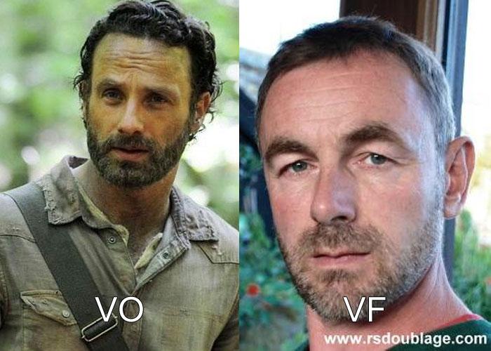 A quoi ressemble la voix française de Rick Walking Dead