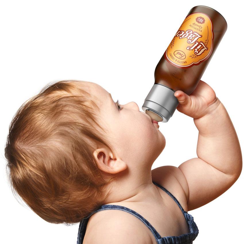 Biberon bouteille de bière