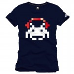 Tee-Shirt Bleu Space Helmet Navy Space Invaders