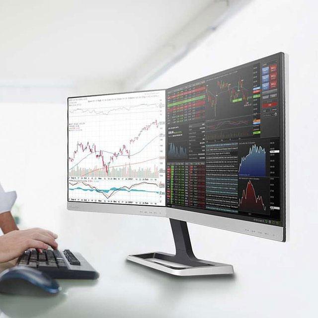 Deux écrans d'ordinateur en un