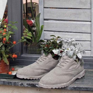 Pot de fleurs chaussure