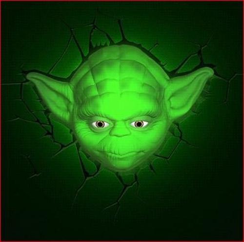 Lampe murale Yoda