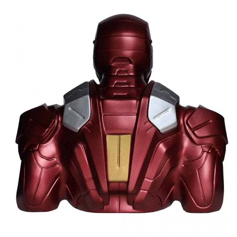 tirelire buste iron man pour super h u00e9ros